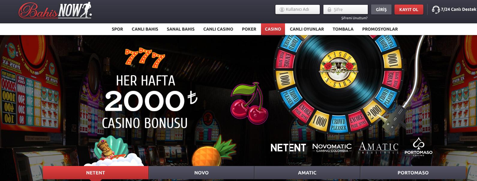 Bahisnow Casino